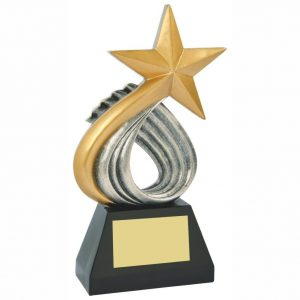 Swirling Star Sailing Trophy 25cms tall