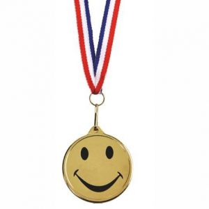 45mm dia Happy Medal and Ribbon