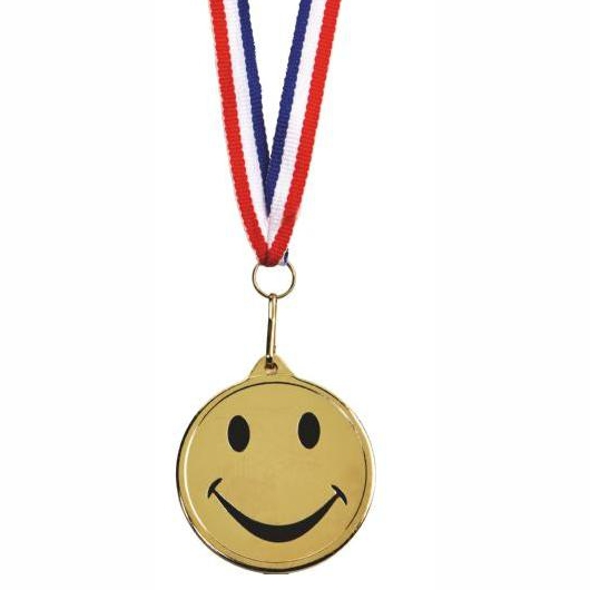 45mm dia Happy Medal and Ribbon