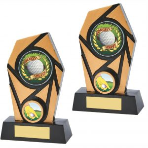 Nearest the Pin Longest Drive trophies