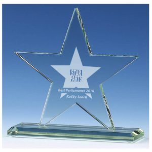 Standing Star Trophy 15cms
