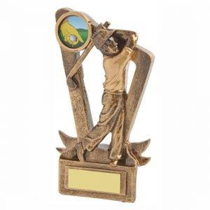 Low Priced Golfer Trophy 15cms