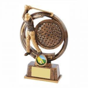 Captains Drive Golfer Trophy 17cms tall