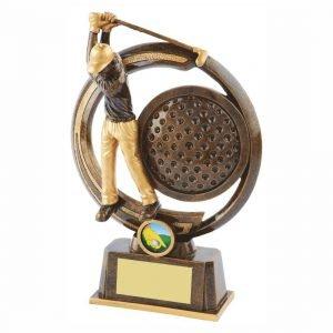 Captains Drive Golfer Trophy 21cms tall