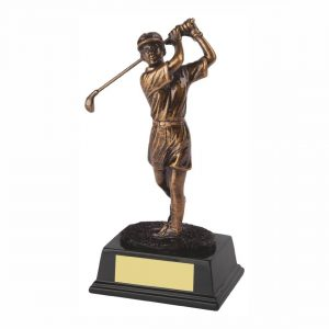 Womens Golfer Trophy 18cms tall