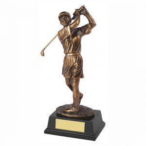 Womens Golfer Trophy 22cms tall
