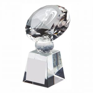 Lady Golfer Crystal Trophy 10cms tall