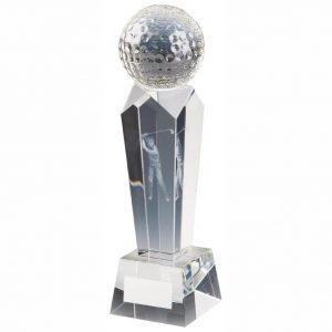 Golf Column Trophy 21cms