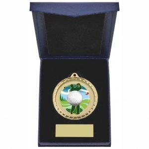 Golf Driver 60mm Medal in Blue Case