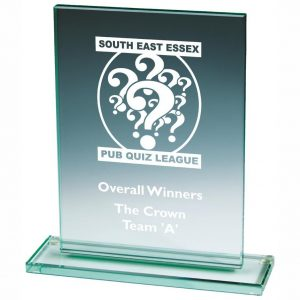 Mid Range Presentation Glass Trophies