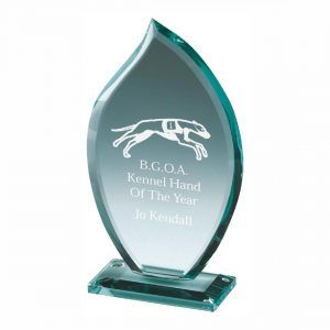 Attainment Glass Trophy 15cms