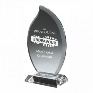 Glass Attainment Trophy 14.5cms