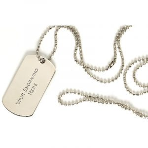 Dog Tag and Neck Chain