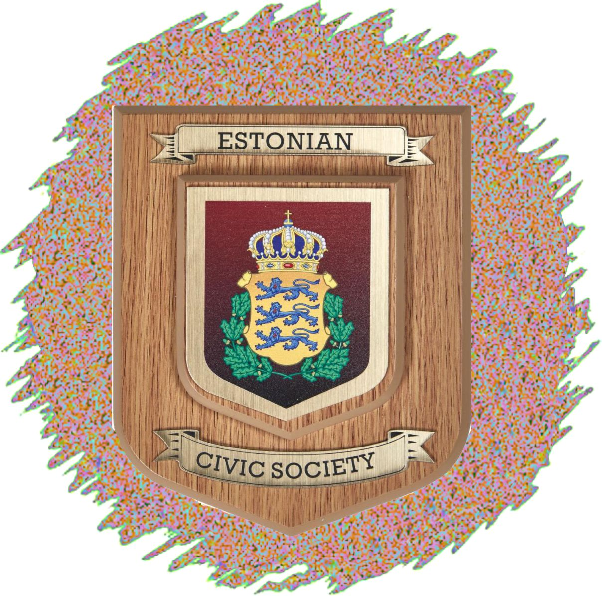Heraldic Style Wall Mounted Printed Plaques