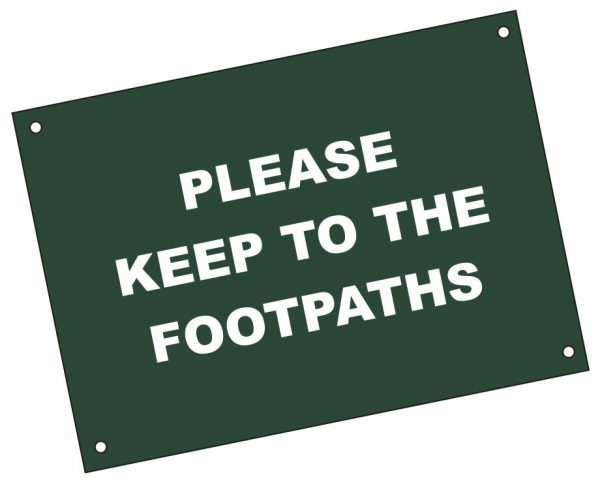 Green and White Coloured Laminated Plastic Signs