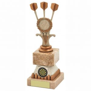 Buy Now. TriDarts Trophy 21cms. Great for any darts player and ideal for any darts match, Most arrows. Most wins and end season darts presentation night.