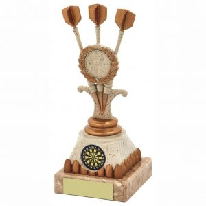 Buy Now. TriDarts Trophy 18cms. Great for any darts player and ideal for any darts match, Most arrows. Most wins and end season darts presentation night.