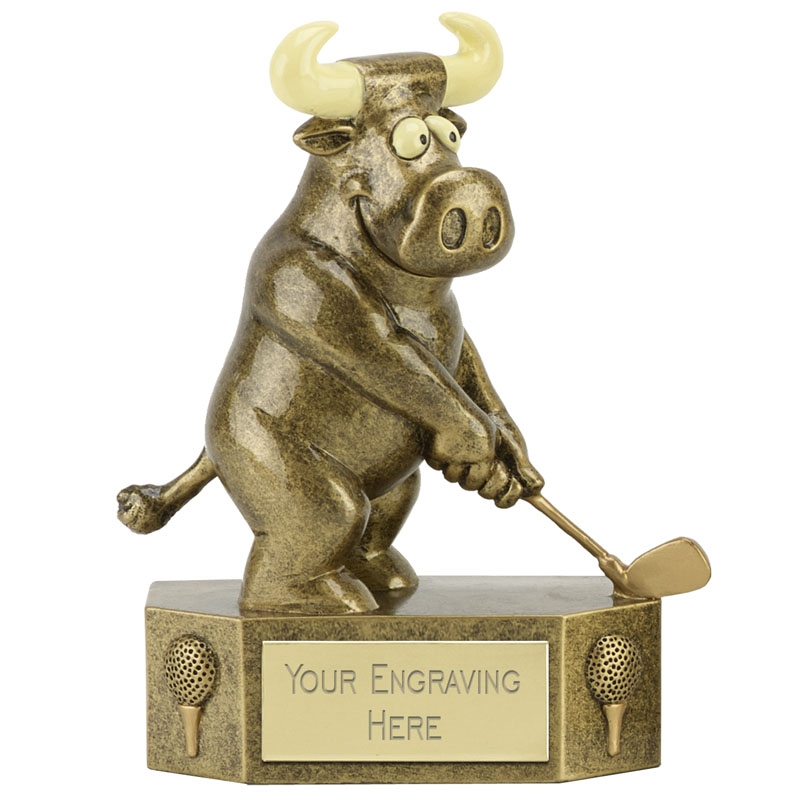 Prize Bull Golfing Trophy 13cms
