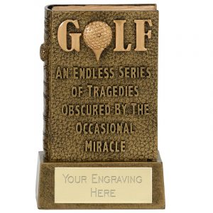 Miracle Book of Golf Trophy 12cms