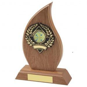 Lightwood Flame Shape Scrabble Trophy