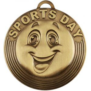 School Sports Day Bronze Coloured Medal 50mm dia