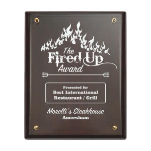 High Quality Presentation Plaque with Printed Glass Front Sml