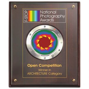 High Quality Presentation Plaque with Printed Glass Front Lrg
