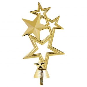 Multi Stars Trophy Topper Gold Coloured 16cms tall
