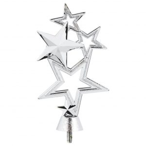 Multi Stars Trophy Topper Silver Coloured 11cms tall