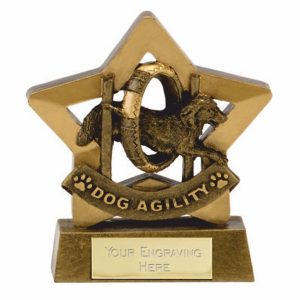 Dog Agility Trophy 8 cms tall