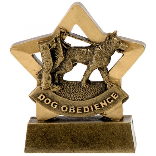 Dog Obedience Trophy 8 cms