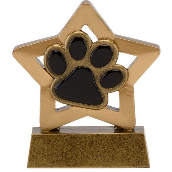 Quality Resin Paw Trophy 8cms