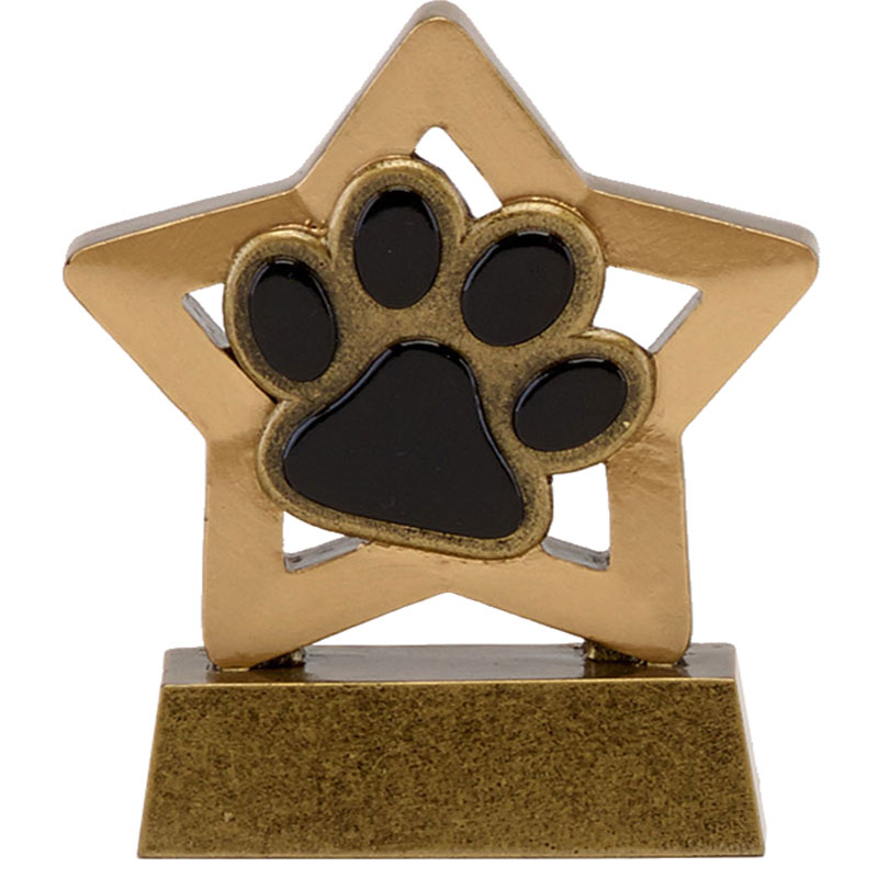 Quality Resin Paw Trophy 8cms