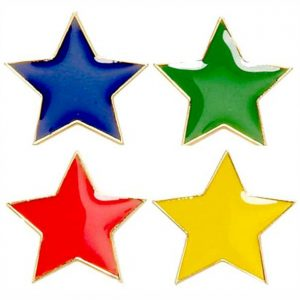 school star pin badges