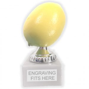 Lemon Joke Trophy 12cms tall.