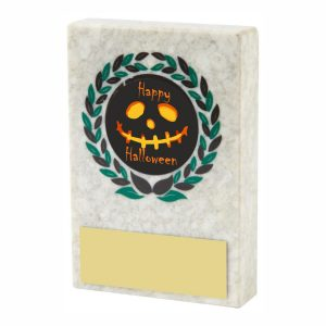Halloween Scary Marble Plaque Trophy 7cms