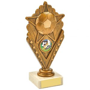 Football Scene Trophy 17.5cms