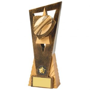 Low priced quality Rugby Ball Scene Trophy 23cms