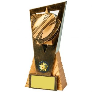 Rugby Ball Scene Trophy 18cms