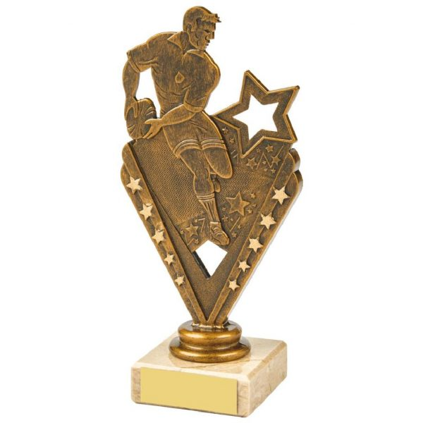 Budget Rugby Player Scene Trophy 17.5cms