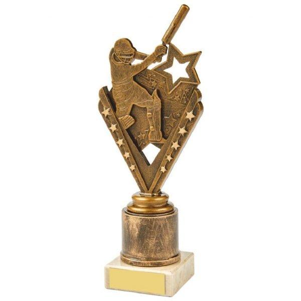 Budget Cricket Batter Scene Trophy 21.5cms