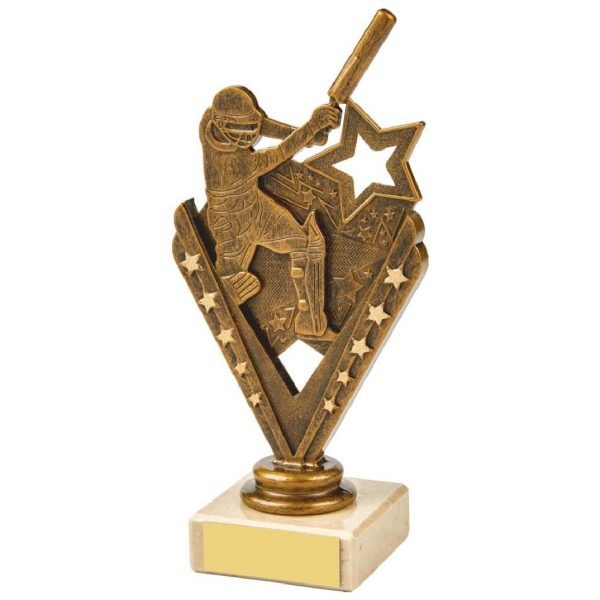 Budget Cricket Batter Scene Trophy 17.5cms