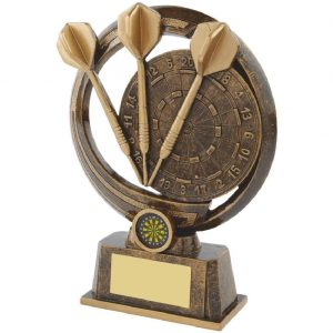 Most Wins Tri Darts Trophy 21.5cms