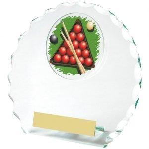 Snooker Glass Trophy 14cms