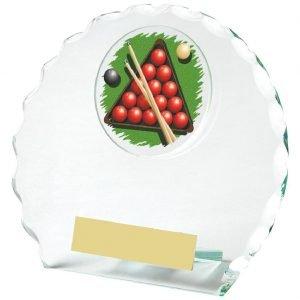 Snooker Glass Trophy 12cms