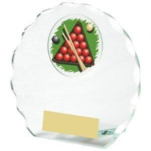 Snooker Glass Trophy 11cms