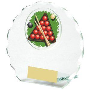 Snooker Glass Trophy 10cms