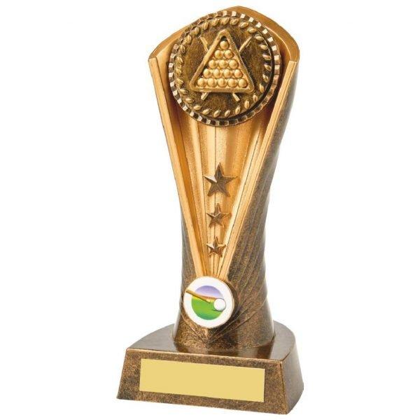 Snooker Balls Column Trophy 21cms