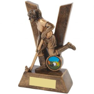 Female Victory Resin Hockey Trophy 16cms