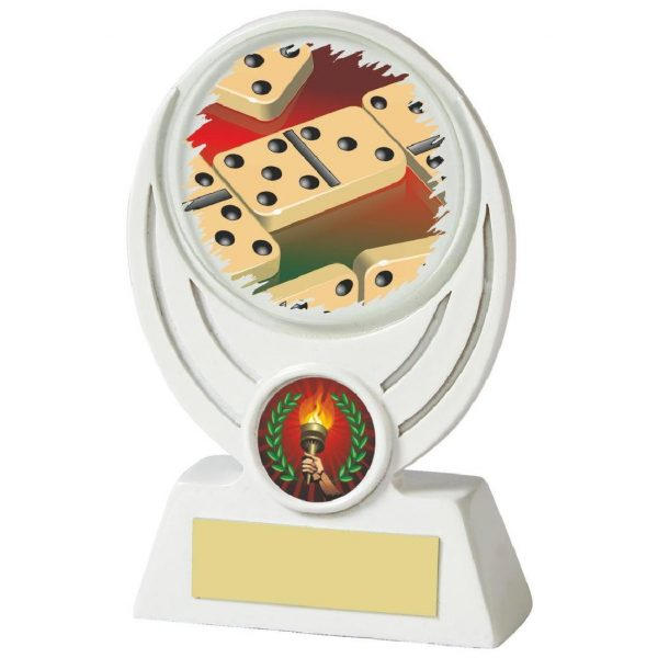 Low Priced Dominoes Trophy 13cms